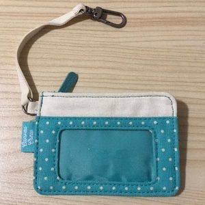 Thirty One Canvas Crew Luggage Tag Wallet